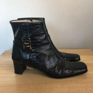 Salvatore Ferragamo Boutique Croc Boots 8 AA